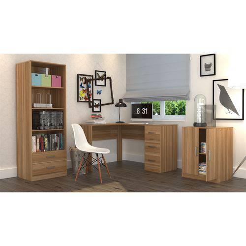 Tudo sobre 'Conjunto Escritório Office Plus Appunto 3 Peças: Armário com Gavetas, Escrivaninha em L com 3 Gaveta'