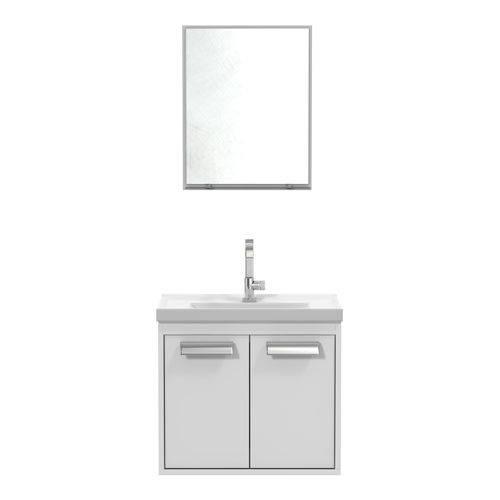 Conjunto Gabinete Espelheira Rigel Branco - Cerocha