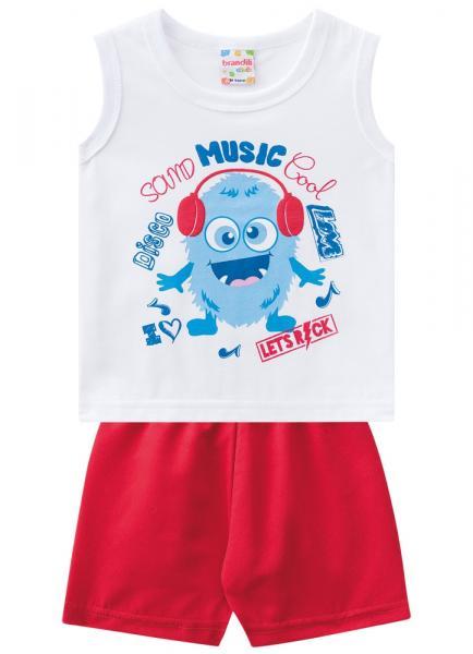 Conjunto Infantil Masculino Bermuda e Camiseta - Brandili
