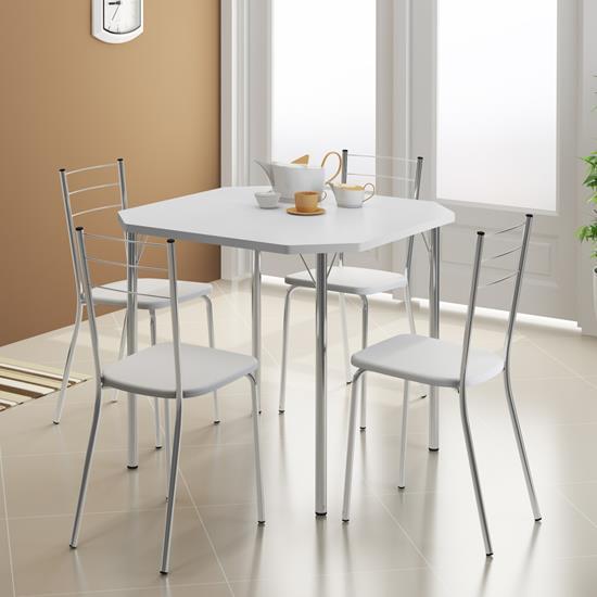Conjunto Mesa 1510 e 4 Cadeiras 1703 - Carraro 1510.1703 15101703