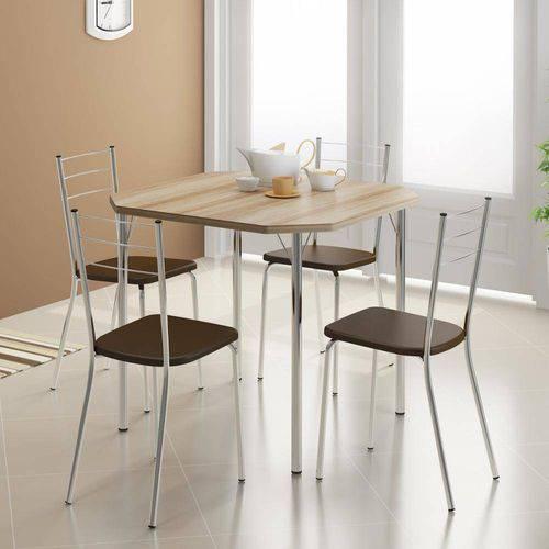 Conjunto Mesa 1510 e 4 Cadeiras 1703 - Carraro