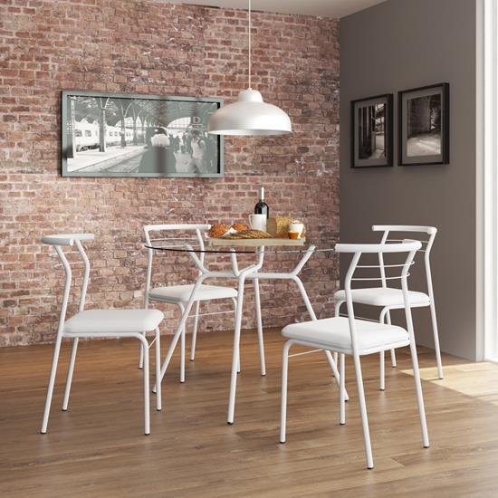 Conjunto Mesa 1527 e 4 Cadeiras 1708 - Carraro 1527.1708 15271708