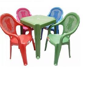 Conjunto Mesa 4 Cadeiras Infantil Colorida Antares