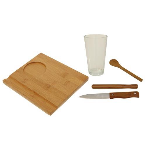 Conjunto para Caipirinha 5 Peças Bamboo - Mor