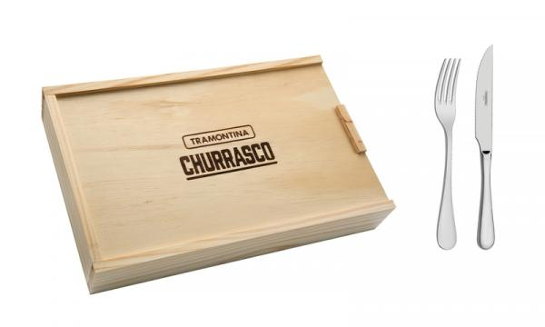 Conjunto para Churrasco Inox 8 Peças Tramontina 66928614