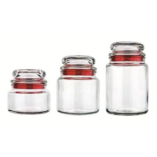 Tudo sobre 'Conjunto 3 Potes de Vidro Multiuso 1129 Vermelho'