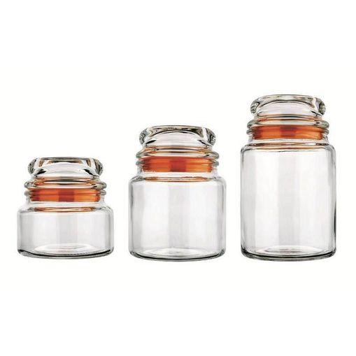 Tudo sobre 'Conjunto 3 Potes de Vidro Multiuso 9040 Laranja'