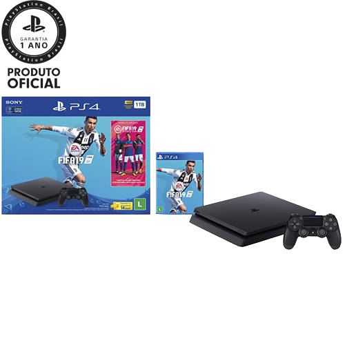 Tudo sobre 'Console PlayStation 4 1TB Bundle + Game Fifa 19 - Sony'