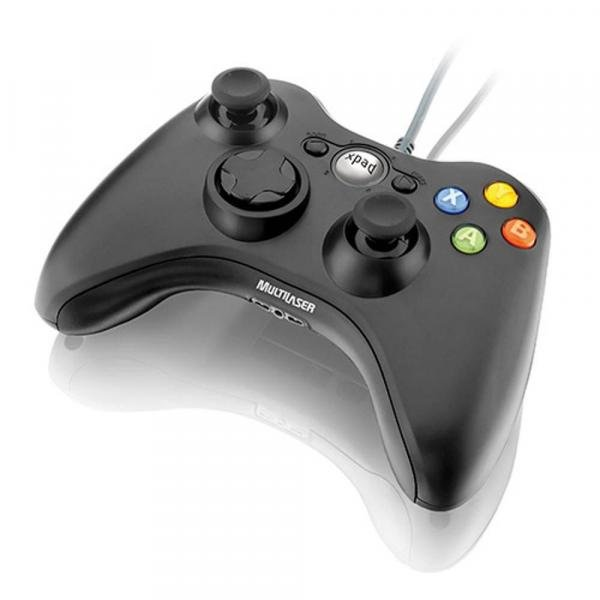 Controle Game Multilaser Dual Shock Preto Xpad Pc/Xbox360 - JS063