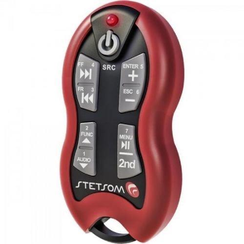 Controle Remoto para Som Automotivo Sx2 Vermelho Stetsom
