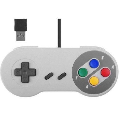 Tudo sobre 'Controle USB Pc Video Game Super Pad Snes Joystick Retro - Importado'