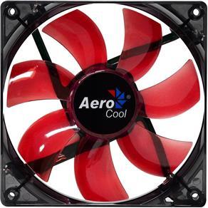 Cooler Fan 12cm Red Led En51363 Vermelho Aerocool - 6V