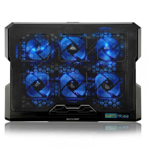 Cooler para Notebook 6 Fans em Led Azul AC282 - Multilaser