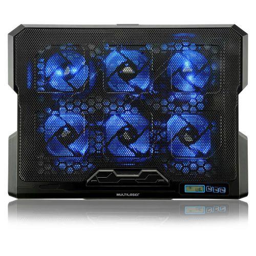 Cooler para Notebook com 6 Fans Led Azul - Multilaser