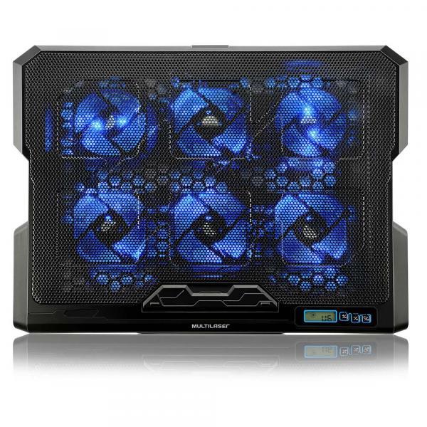 Cooler para Notebook Multilaser com 6 Fans LED Azul - AC282