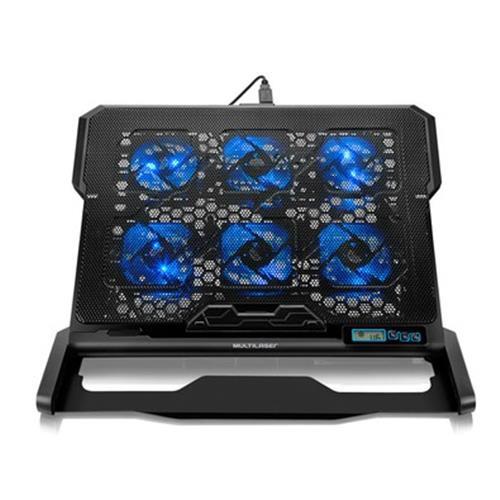 """Cooler para Notebook Multilaser Hexa Cooler Até 17"""" - AC282"""