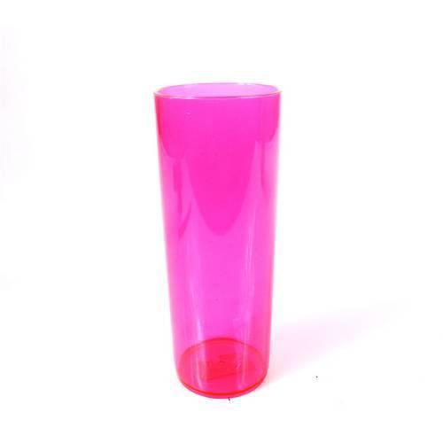 Copo Acrílico Long Drink 350ml Rosa