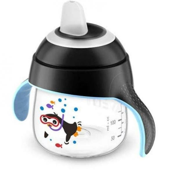 Copo Pinguim 200ml Preto - Philips Avent