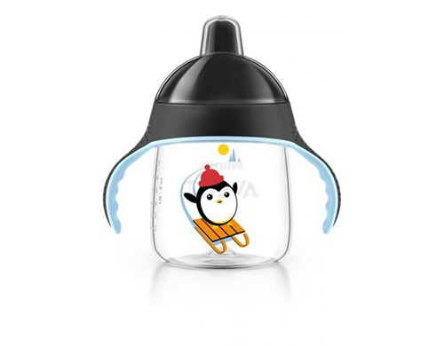 Copo Pinguim Philips Avent Preto 260Ml