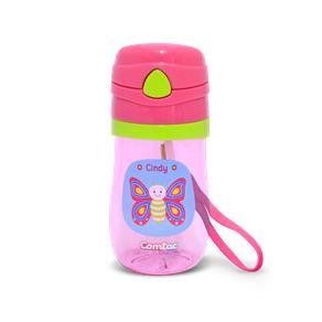 Copo Plástico C Canudo Tampa Pop-up e Sist Antiv Lets GO Borboleta Cindy - Comtac Kids - 4057