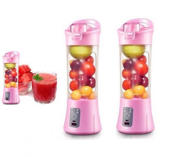 Tudo sobre 'Coqueteleira Eletrica Copo Shaker Mixer 400 Ml Rosa - 6acessorios'