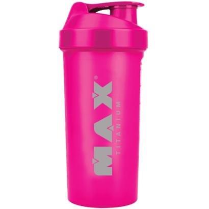 Coqueteleira Rosa Fluorescente 600Ml - Max Titanium