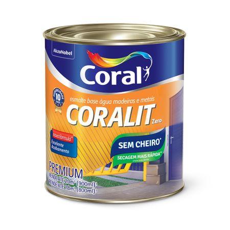 Coral Coralit Secagem Rápida Zero Oor Brilhante 0,9 Litro Branco