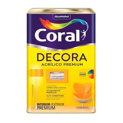 Tudo sobre 'Coral Decora Acrílico Premium Fosco Branco'