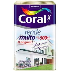 Tudo sobre 'Coral Rende Muito 18 Litros Fosco Branco'