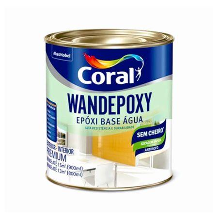 Coral Wandepoxy Esmalte Acetinado Base Água 0,9 Litro Branco Neve
