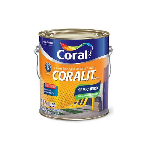 Coralit Acetinado Zero Odor 3,6L Branco - Coral
