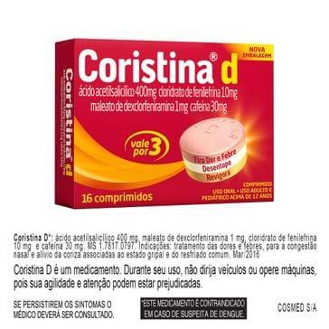 Coristina D Hypera 16 Comprimidos