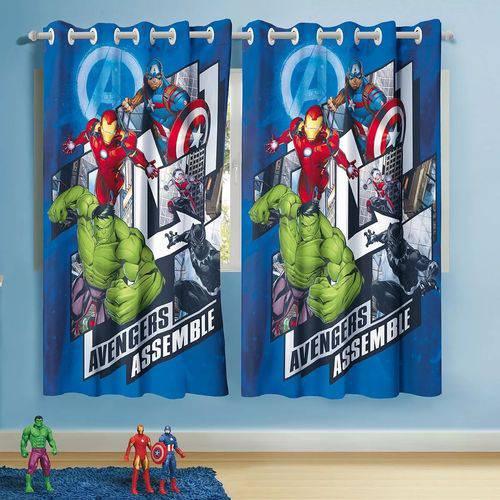 Tudo sobre 'Cortina Infantil Vingadores Avengers 3,00m X 1,80m Lepper'