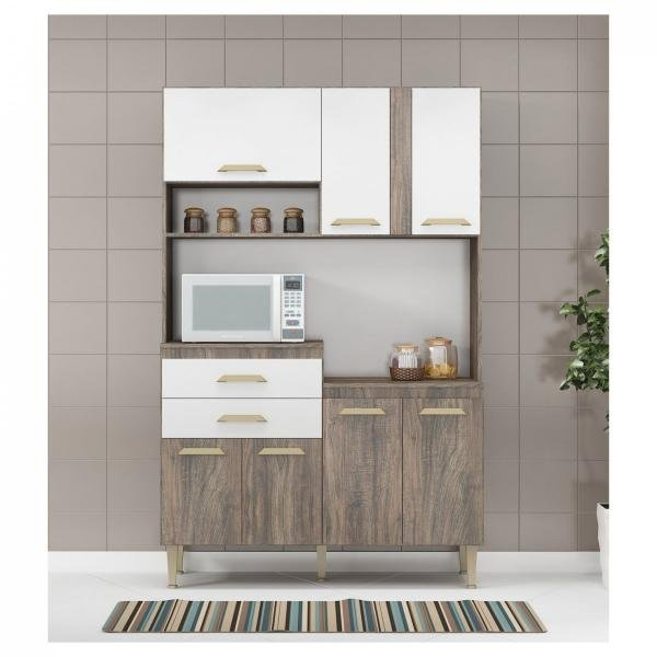 Cozinha Compacta Dora Linha Compacta CD09 - Fellicci Móveis