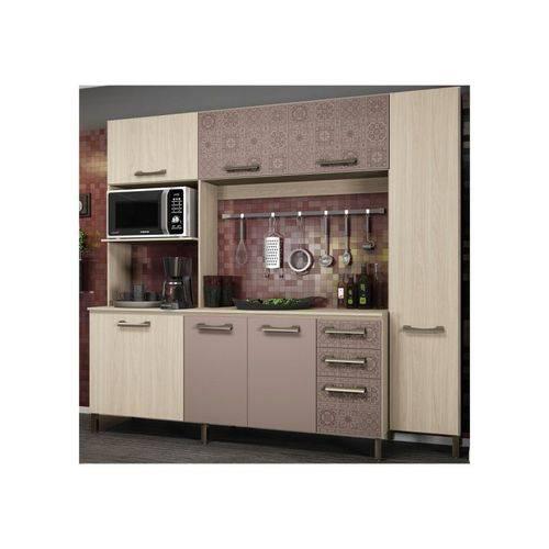 Tudo sobre 'Cozinha Compacta E780 Amêndoa/moka - Kappesberg'