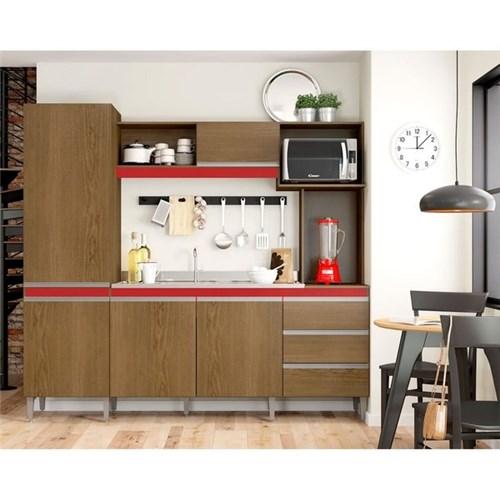 Cozinha Compacta Vitória 5 Portas Soluzione Flex Color