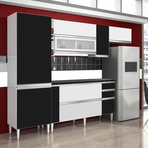 Tudo sobre 'Cozinha Completa Ebano CHF Branco/Preto'