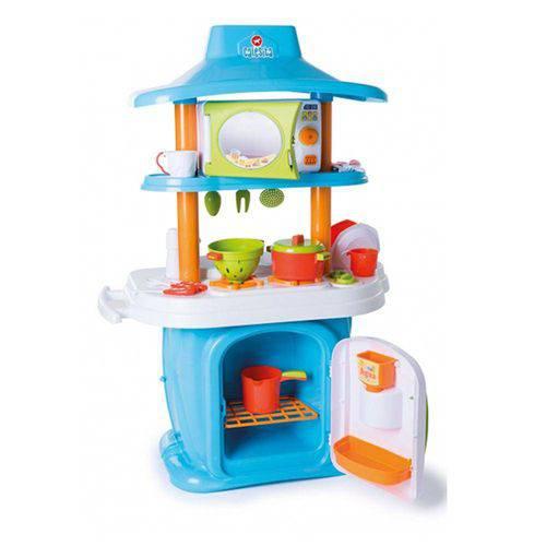 Tudo sobre 'Cozinha Infantil Le Grand Chef Jr Azul/Branco 1311 - Calesita'