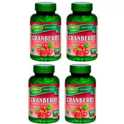 Cranberry - 4x 120 Cápsulas - Unilife