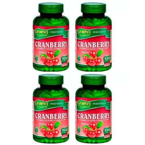 Cranberry 500mg - 4 Un de 120 Cápsulas - Unilife