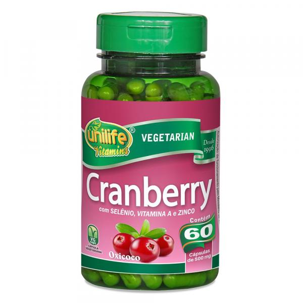 Cranberry (500mg) 60 Cápsulas - Unilife