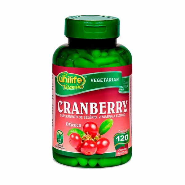 Cranberry - Unilife - 120 Cápsulas de 500mg