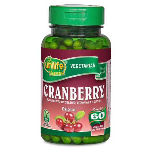 Cranberry Unilife 500mg 60 Cápsulas