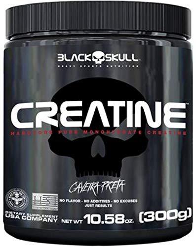 Creatina 300gr Caveira Preta Black Skull