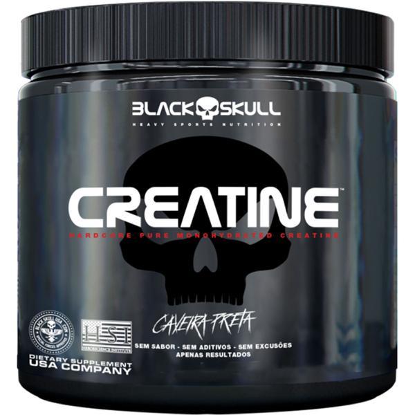 Creatina Caveira Preta 150g Black Skull