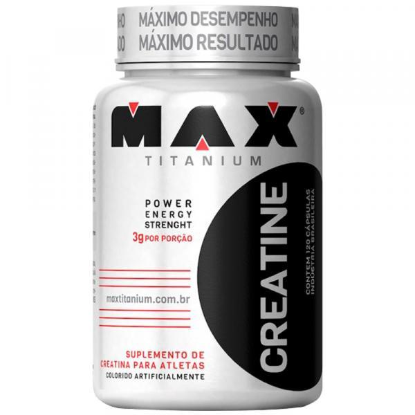 Creatina Max -120 Cápsulas - Maxtitanium - Max Titanium