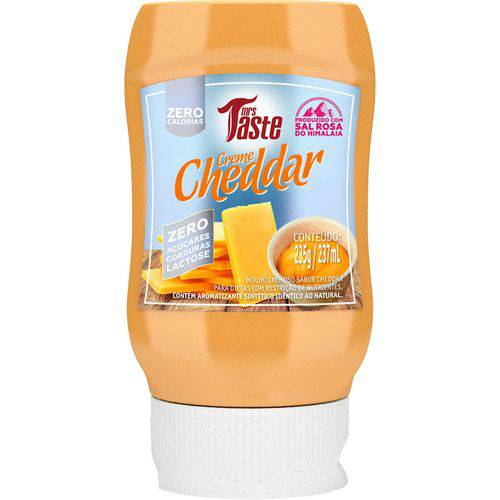 Creme Cheddar Zero Calorias 235g - Mrs Taste