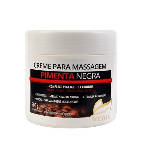 Tudo sobre 'Creme de Massagem Pimenta Negra 500g Vedis'