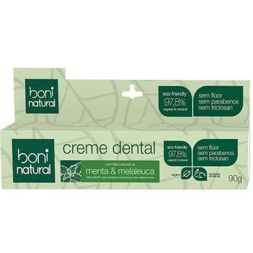 Tudo sobre 'Creme Dental Boni Natural Menta e Melaleuca 90g'