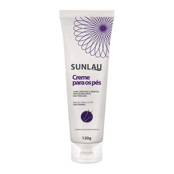 Creme Hidratante para os Pés Sunlau com Ação Desodorizante e Bactericida em Bisnaga de 120g
